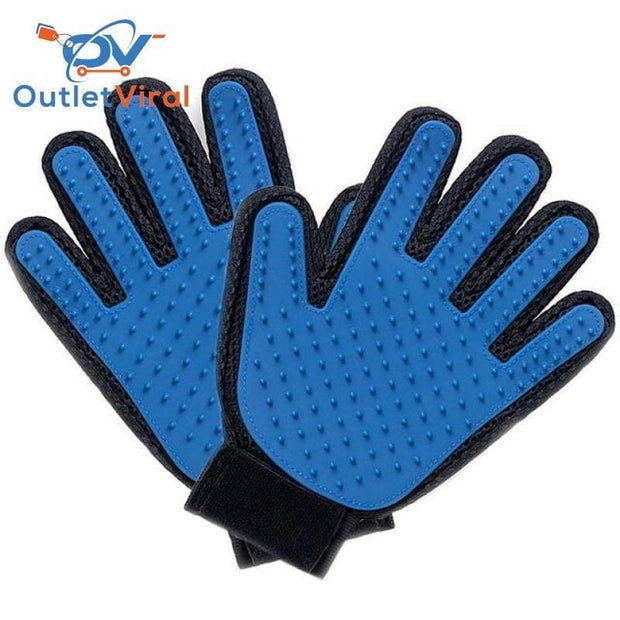 Pet Grooming Deshedding Brush Glove (For Cats/dogs) 1 Right And Left / M