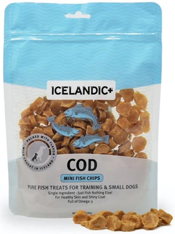 Mini Cod Fish Chips ~ 100% Pure Icelandic & Perfect for Training!