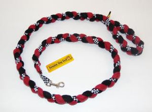 Speedway Braided Fleece Leash ~ Red or Blue