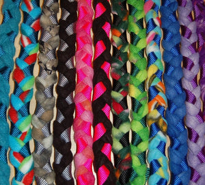 Multi Colored Braided Fleece Leashes ~ Handmade in the USA