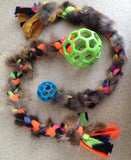 Braided Fur Tug with Squeaky, Megalast or Hol-ee Roller Balls