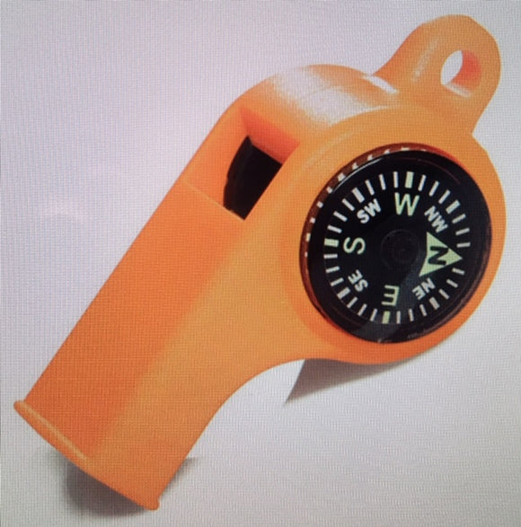 Saftey Whistle with Compass & Guage