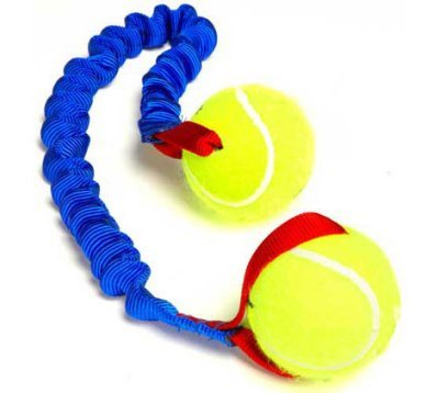 Bungee Ball Tug With Tennis Balls