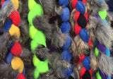 Real Fur Braided Fleece Leash ~ U.S.A. Made