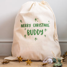 'Merry Christmas' Drawstring Sack