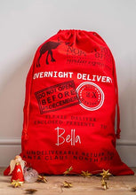 Red Overnight Delivery Santa Sack