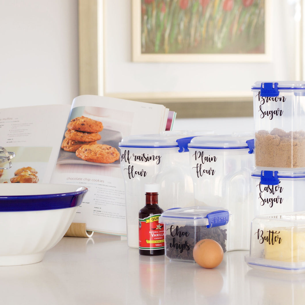 Custom 30 Pack of Pantry Labels -Home Label Collection