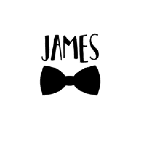 Personalised Name with Bow Tie -Home Label Collection