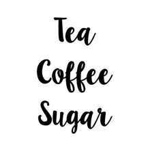 Lilybelle Tea, Coffee Sugar Labels -Home Label Collection