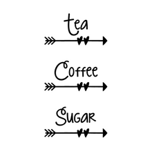 Strawberry Tea, Coffee Sugar Labels -Home Label Collection
