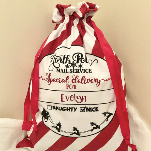 Candy Cane Santa Sack -Home Label Collection