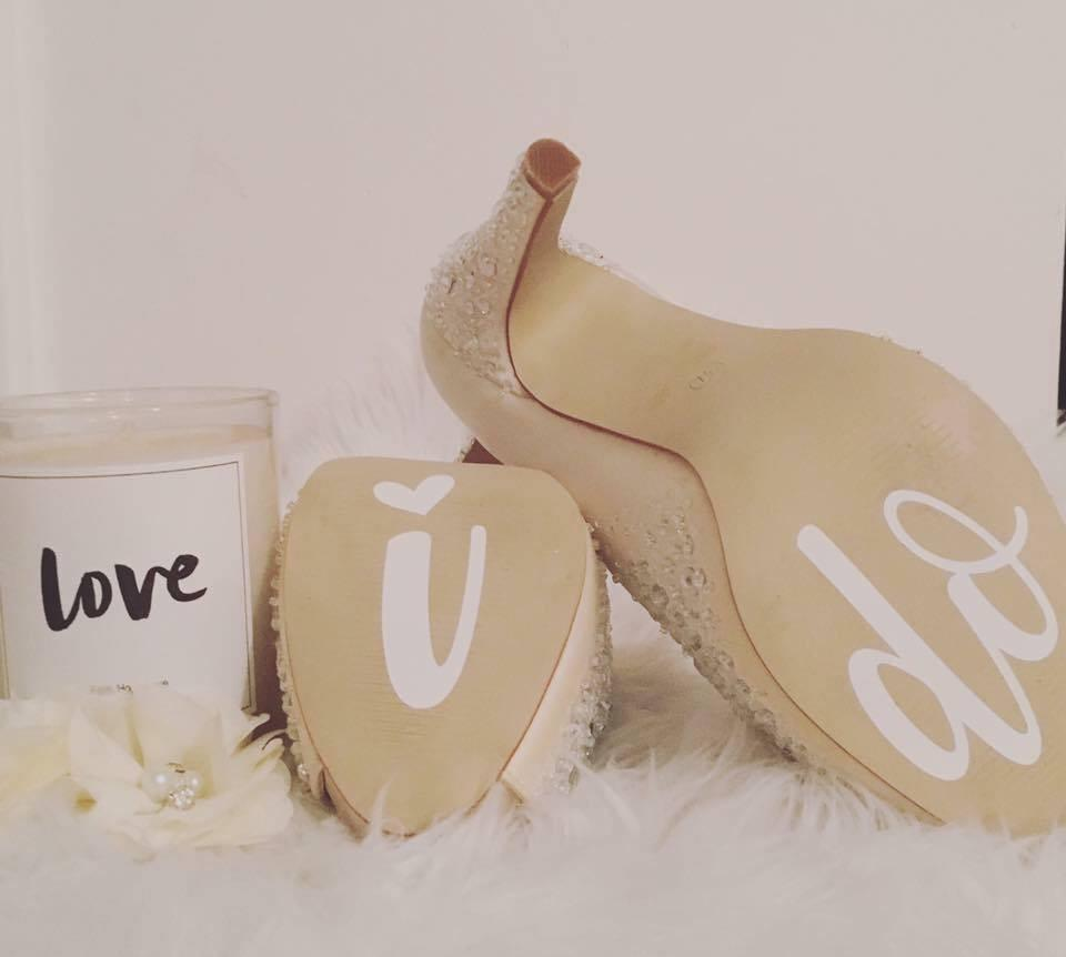 Wedding Shoe Decals -Home Label Collection