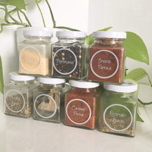 Black Spice Jar Label Pack Replicate From Great Beginnings -Home Label Collection