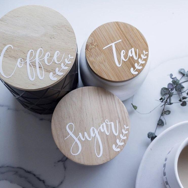 Orchid Tea, Coffee Sugar Labels -Home Label Collection