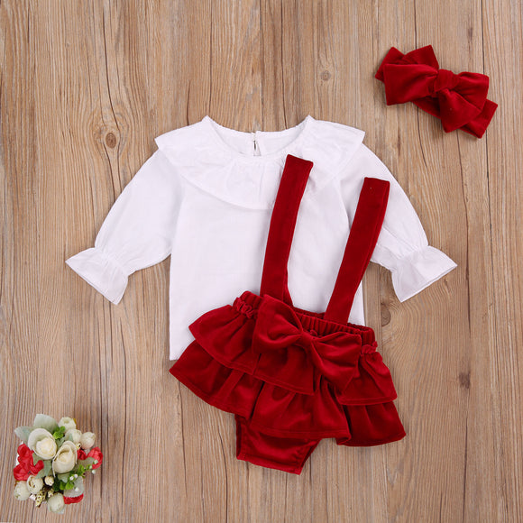 Marley Shirt, Velvet Short & Headband Set