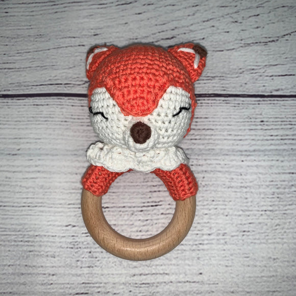 Fox Crochet Rattle