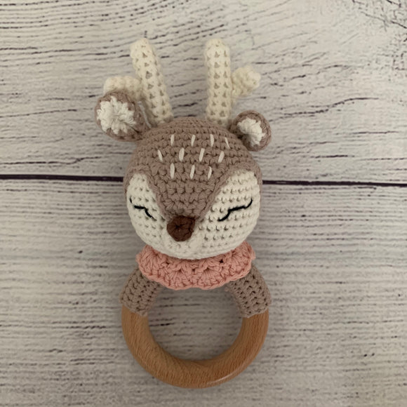 Deer Crochet Rattle