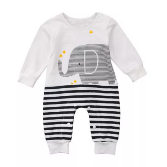 Elephant Long Sleeve Jumpsuit