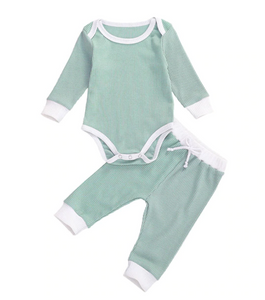 Kai Ribbed Long Sleeve Bodysuit & Pants Set