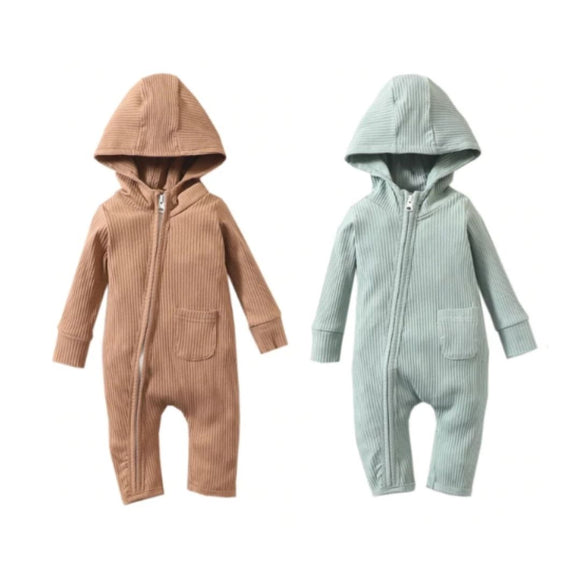 Joy Hooded Long Sleeve Jumpsuit