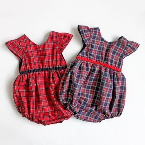 Helena Plaid Romper