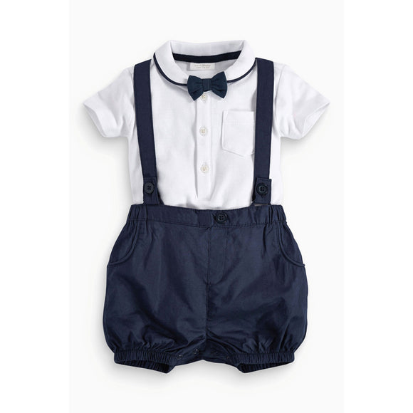 T-Shirt, Bow Tie & Overall Set