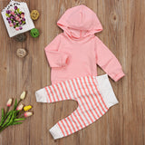 Hoodie & Striped Pants Set