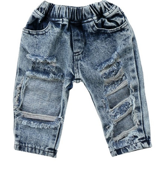 Lollie Ripped Denim Pants