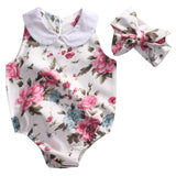 Monique Floral Playsuit & Headband Set