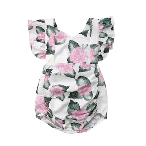Rachel Floral Summer Backless Playsuit