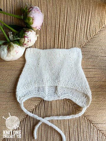 Baby Bear Bonnet by Knitting For Olive