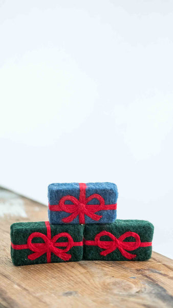 Felted Soap, Holiday Ribbon