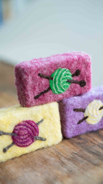 Hand Needle Felted Yarn Ball Soap