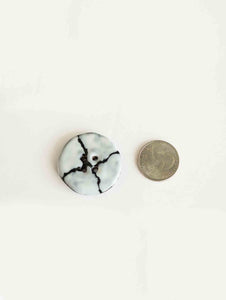 Handmade ceramic buttons:Giraffe White Large