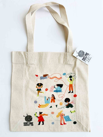 Knitting Lady Tote