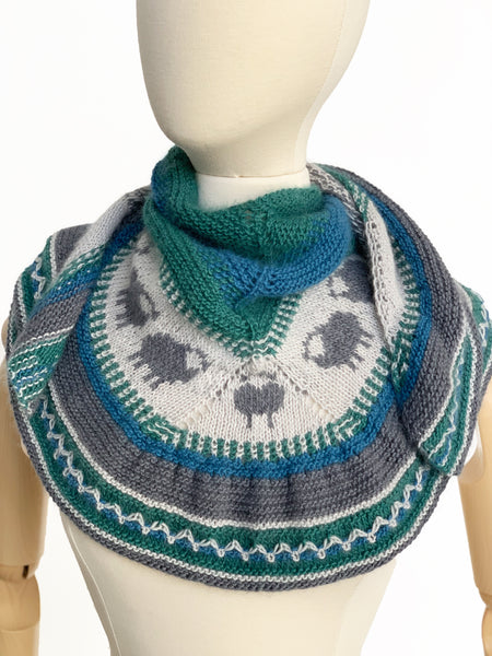 Sheep Shawlette