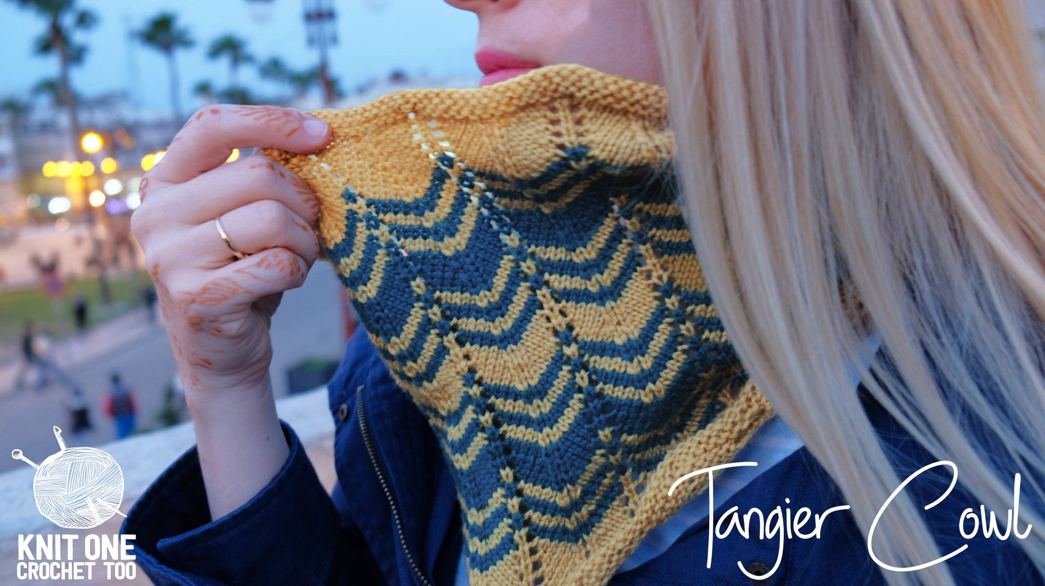 Tangier Cowl 2408 Knit One Crochet Too