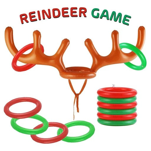 Inflatable Reindeer Party Game-Take Christmas party-game fun to the next level
