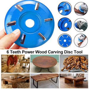 6 Teeth Power Wood Carving Disc Tool