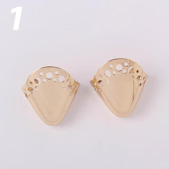 2PCS / High Heel Flats Shoes Toe Cap Cover Decoration