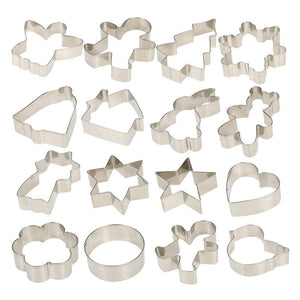 16pcs/set Multifunctional Christmas Cookie Cutters