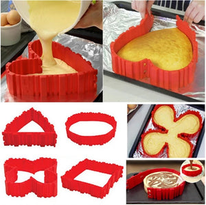 ONLY $9.99 & BUY 4 FREE SHIPPING TODAY! Magic Bake Snake Silicone Cake Mold