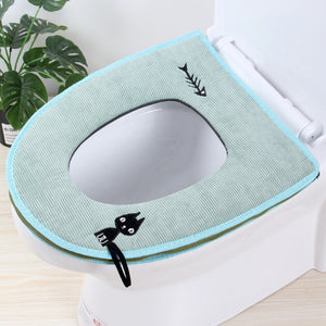 Toilet Seat Cover - Makes your toilet seat comfortable and colorful