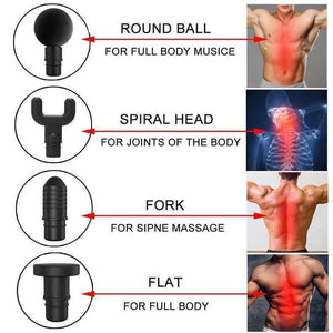 Body Deep Muscle Massager - 4 In 1, Relieving Pain, 3 Speed Setting
