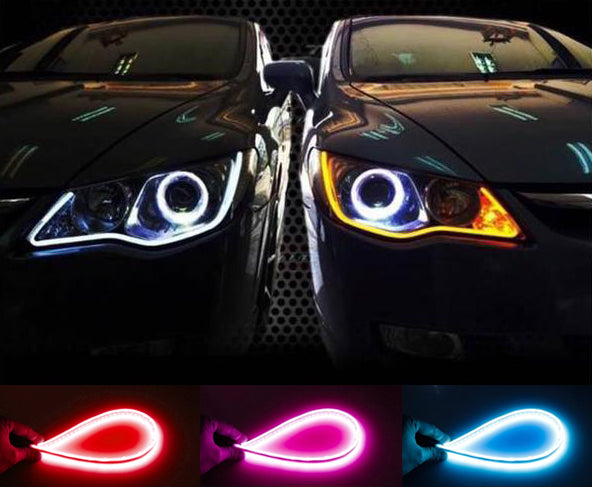 50% OFF ONLY TODAY! Flexible DRL LED Night & Daytime Running Light Strip/2PCS