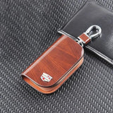 50% OFF Early Black Friday Sale - Car Logo Leather Wood Texture Car Key Case
