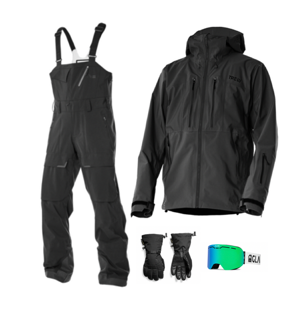 Men's Trewth Bib Full Bundle - All Black