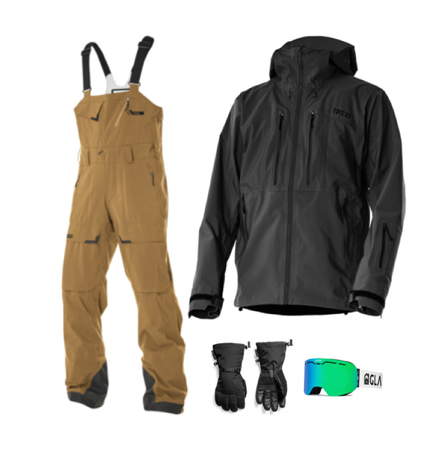 Men's Trewth Bib Full Bundle - Khaki and Black