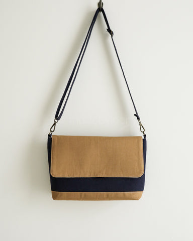 NEW! Messenger Crossbody Bag - Two Toned