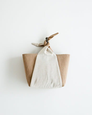 Bow Knot Tote - Beige